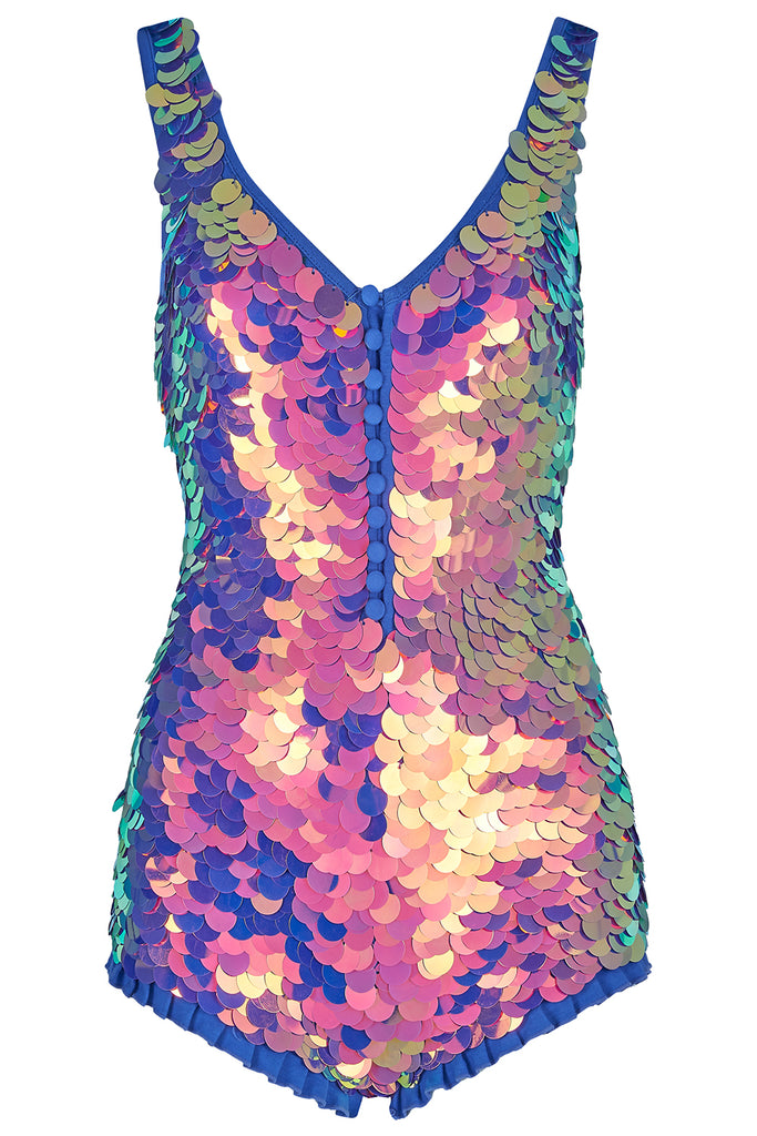SEA CIRCUS SEQUIN PLAYSUIT - ORCHID '18