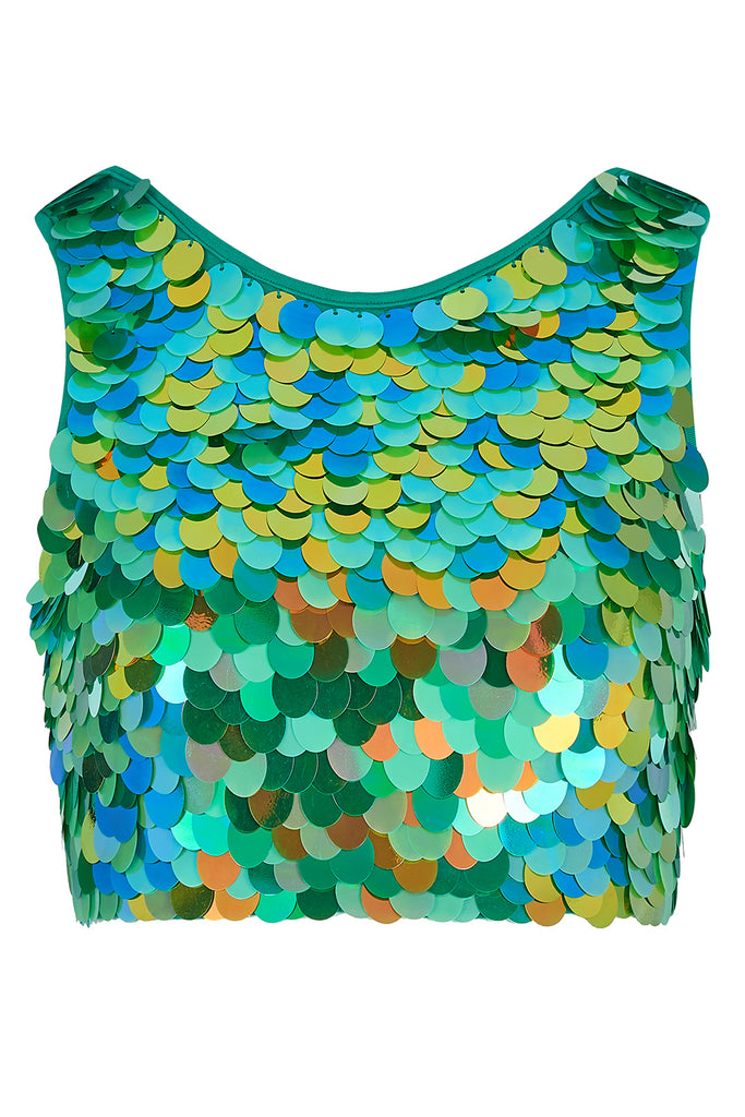 TWINKS SEQUIN CROP TOP - AMAZON