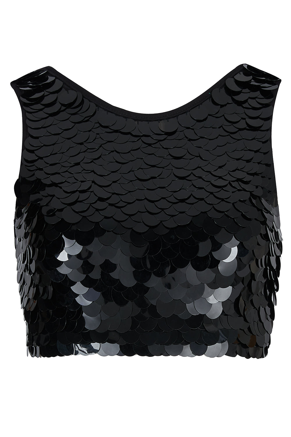 TWINKS SEQUIN CROP TOP - BLACK