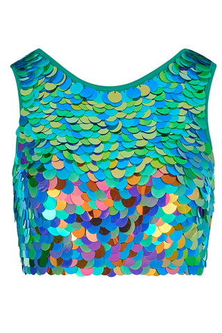 TWINKS SEQUIN CROP TOP - KALEIDOSCOPE
