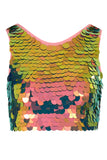 TWINKS SEQUIN CROP TOP - FLAME