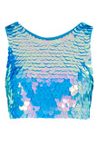 TWINKS SEQUIN CROP TOP - MOONRISE