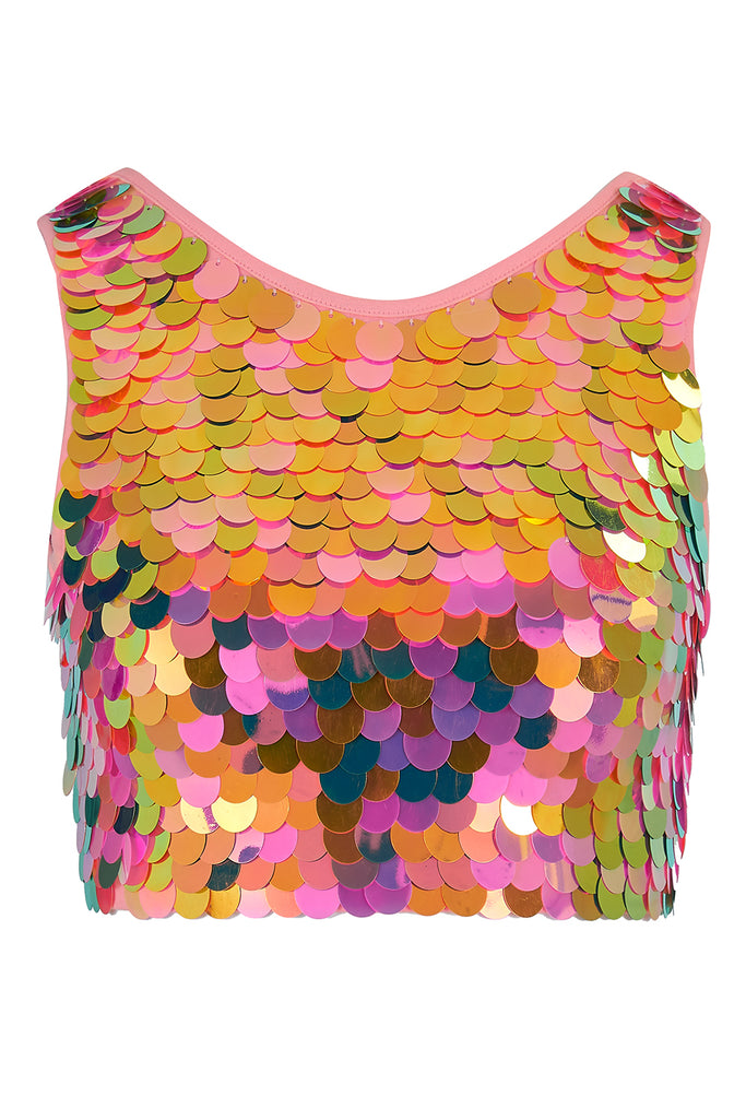 TWINKS SEQUIN CROP TOP - SOLAR
