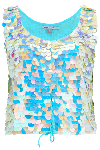 TILLY SEQUIN CAMISOLE - PEARL