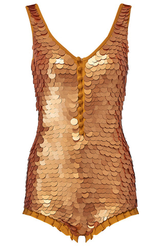 SEA CIRCUS SEQUIN PLAYSUIT - GOLD