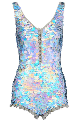 SEA CIRCUS SEQUIN PLAYSUIT - HOLOGRAM SILVER