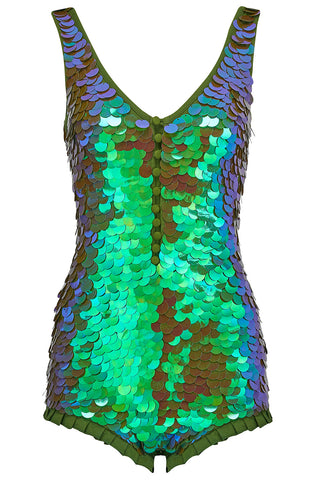 SEA CIRCUS SEQUIN PLAYSUIT - JUNIPER