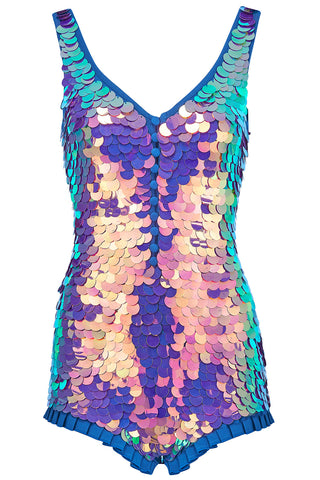 SEA CIRCUS SEQUIN PLAYSUIT - ORCHID
