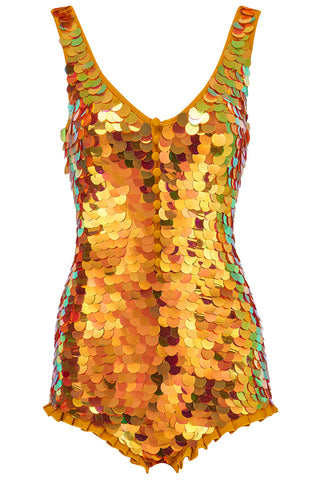 SEA CIRCUS SEQUIN PLAYSUIT - SAFFRON