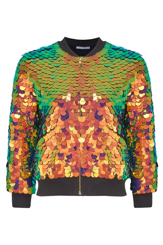 SUPERNOVA SEQUIN BOMBER JACKET - BLAZE