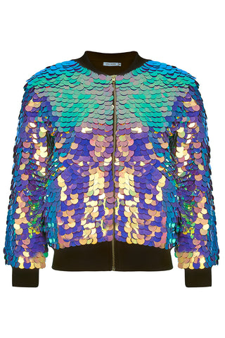 SUPERNOVA SEQUIN BOMBER JACKET - ORCHID '17