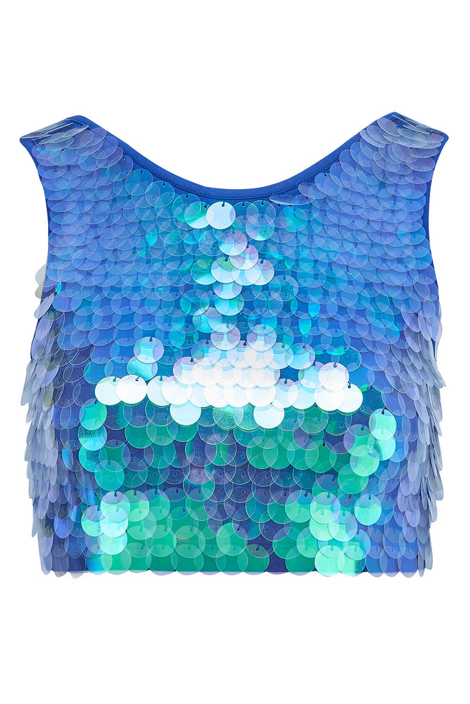 TWINKS SEQUIN CROP TOP - MERMAID