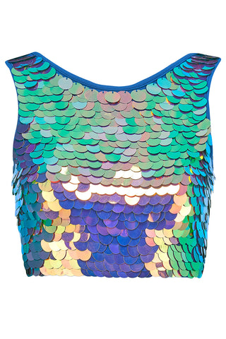TWINKS SEQUIN CROP TOP - ORCHID