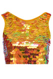 TWINKS SEQUIN CROP TOP - SAFFRON