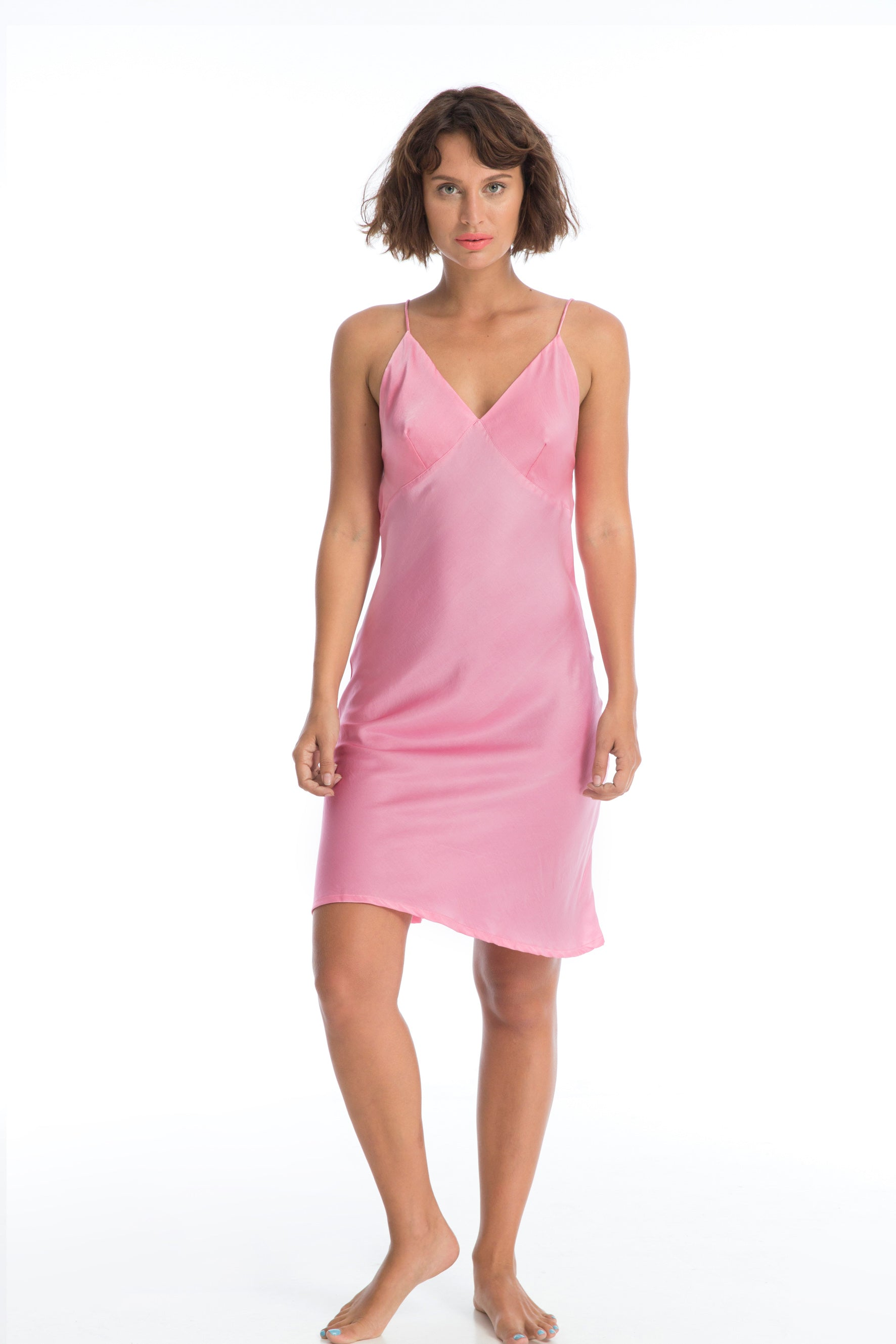 05cac8dd0d308 LILA SILK SLIP DRESS - NATURAL PINK DYE – Rosa Bloom