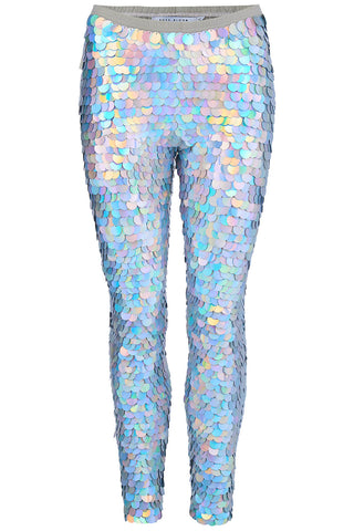 INDUS SEQUIN LEGGINGS - HOLOGRAM SILVER