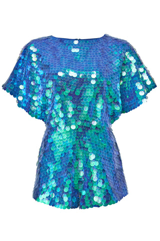 MELLA CAPE-PLAYSUIT - MERMAID