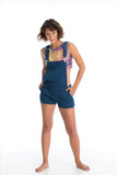 JUNE DUNGAREE SHORTS - NATURAL INDIGO