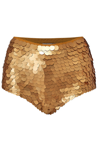 gold sequin shorts rosa bloom