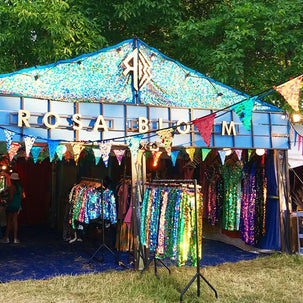 Festival shop front selling sequin clothing