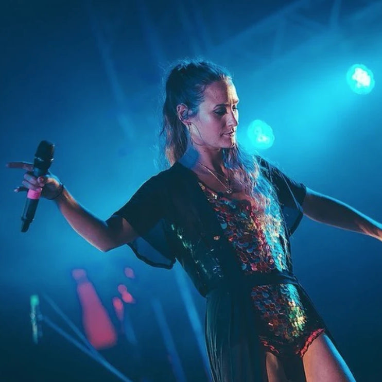 Singet Holly Holden performs at Outlook Festival