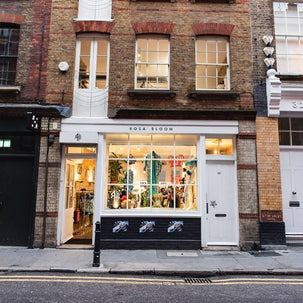 The Rosa Bloom pop-up shop store front