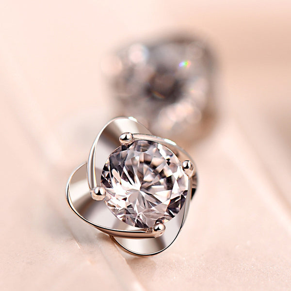 Flower Simulated Diamond Earring