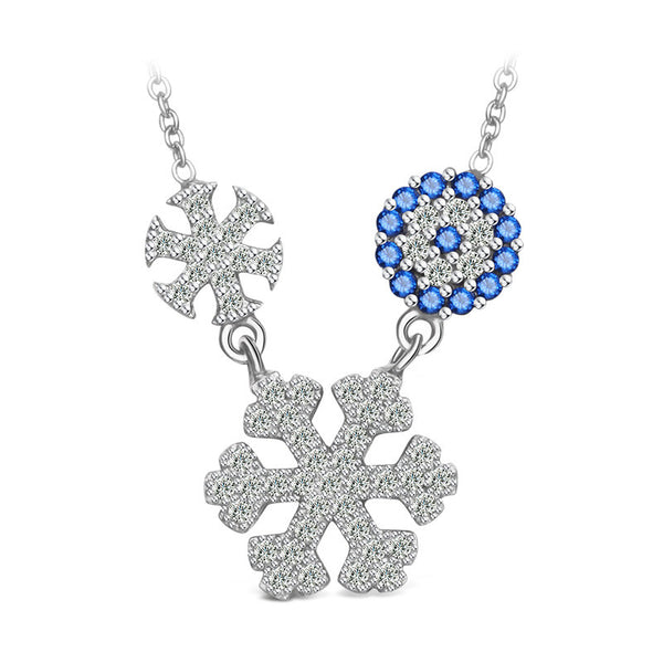 925 Sterling Silver Snow Diffuse Necklace