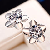 925 Sterling Silver Flower Earrings