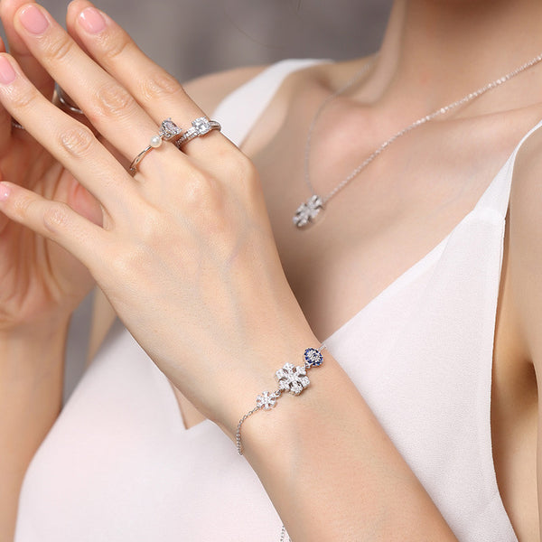 925 Sterling Silver Snow diffuse Bracelet