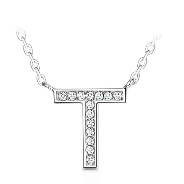 "Famous ""T ""Sterling Silver Necklace"