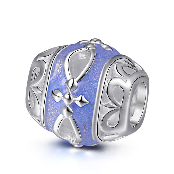 Powder Blue 925 Silver Charm