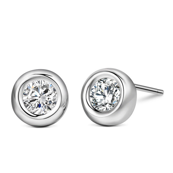 925 Sterling Silver Classic Round Earring