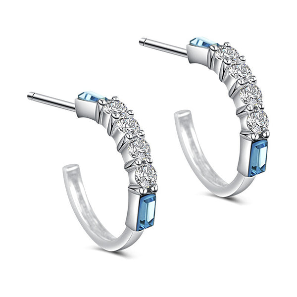 925 Sterling Silver Swarovski Elements Crystal Earring