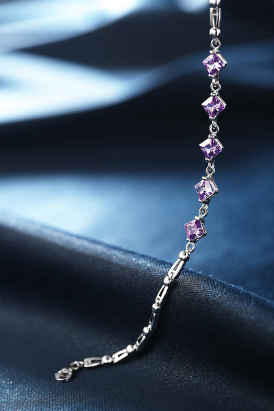 Bracelet With AAA Purple Zirconia
