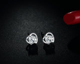 925 Sterling Silver Happiness Heart Earring
