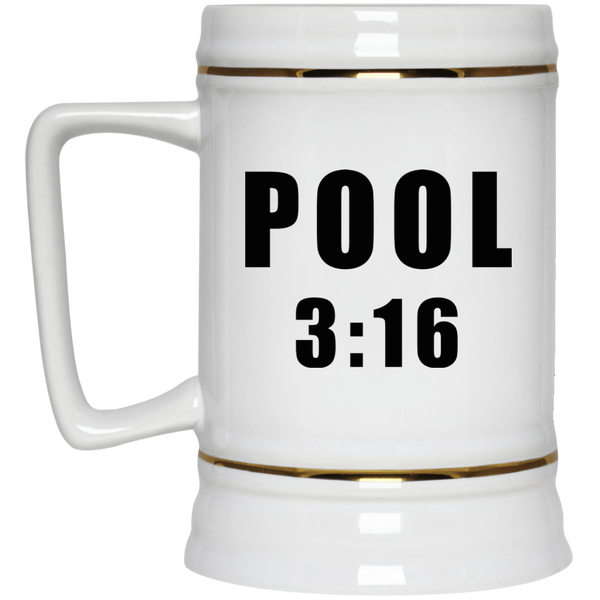 Pool 316 Beer Stein 22oz.