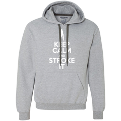 Keep Calm and Stroke It - Sexy Girl Heavyweight Pullover Fleece Sweatshirt