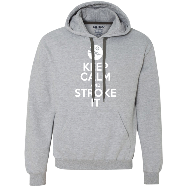 Keep Calm and Stroke It 8ball Heavyweight Pullover Fleece Sweatshirt