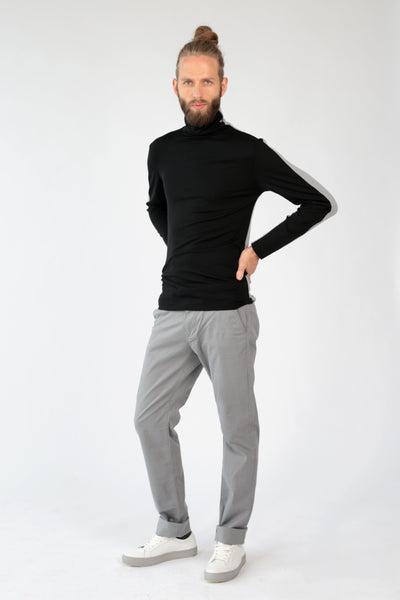 "Turtleneck long sleeve t-shirt ""Half""-T-Shirts-Feelwear"