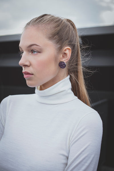 Turtleneck top in merino (ivory)-T-Shirts-Feelwear