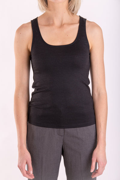 Sleeveless tank top in merino silk blend-T-Shirts-Feelwear