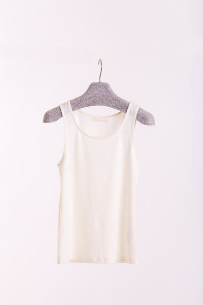 Tank top in merino (ivory)-T-Shirts-Feelwear