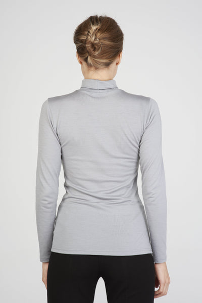 Turtleneck top in merino-T-Shirts-Feelwear