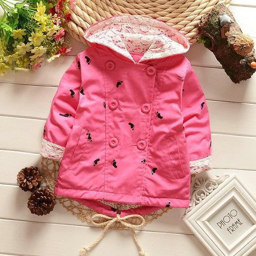 7dd5d84a9 Footprints Hoodie Baby Girl Outerwear   Coats – Kiddie Outfit