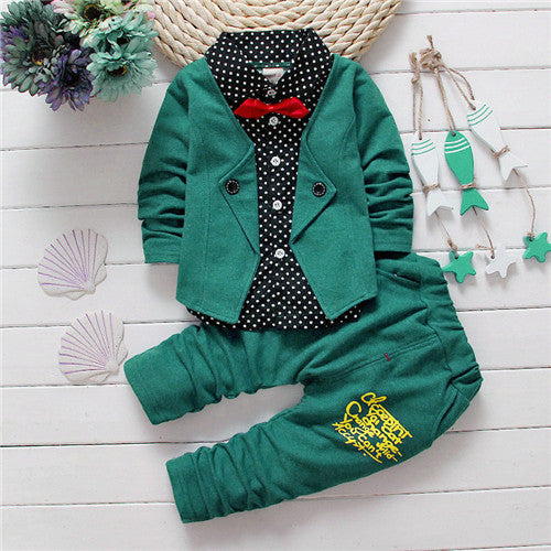 e92536d29 Little Gentleman Suit with Bow -Kiddie Boy Clothing Set – Kiddie Outfit