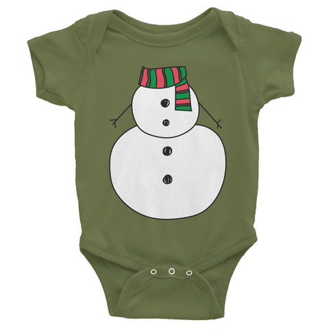 Lil snowman Infant short sleeve one-piece