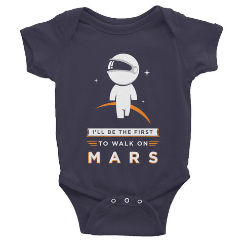 Walking on Mars Infant short sleeve one-piece