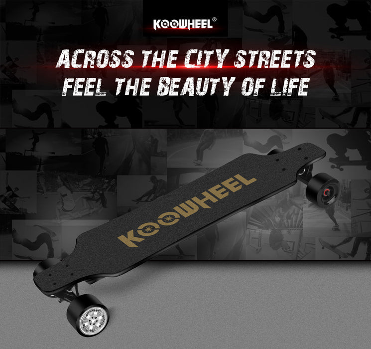 Koowheel D3X ONYX Gen 2 Electric Skateboard - Electric Bike & Skate