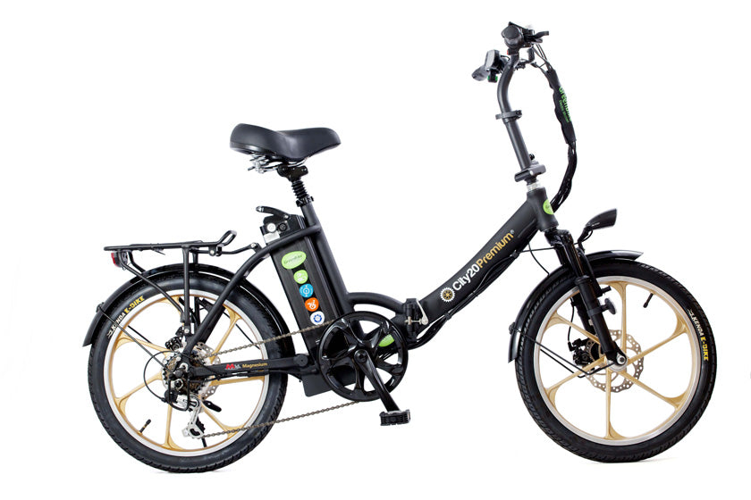 GreenBike City Premium HD Urban Beach Bike - Electric Bike & Skate